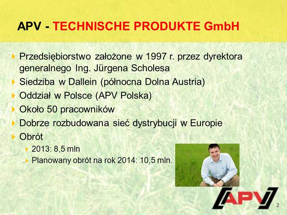APV - TECHNISCHE PRODUKTE GmbH  Przedsiębiorstwo założone w 1997 r.
