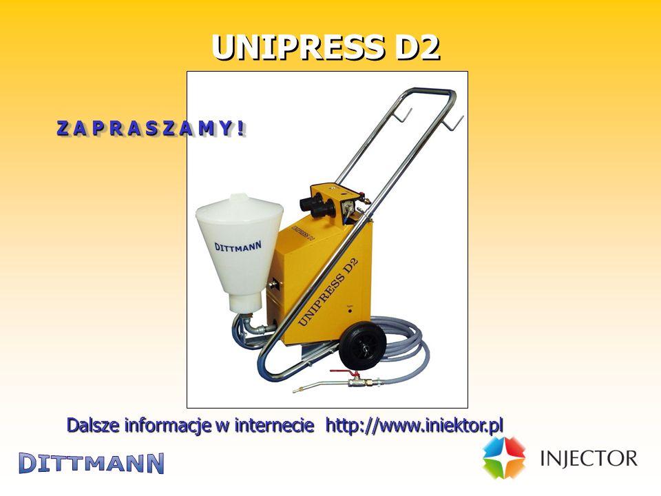 Technik für die Bausanierung UNIPRESS D2 Z A P R A S Z A M Y .