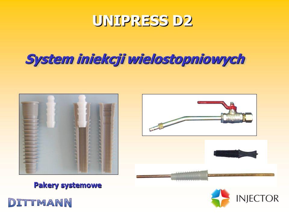 Technik für die Bausanierung System iniekcji wielostopniowych UNIPRESS D2 Pakery systemowe