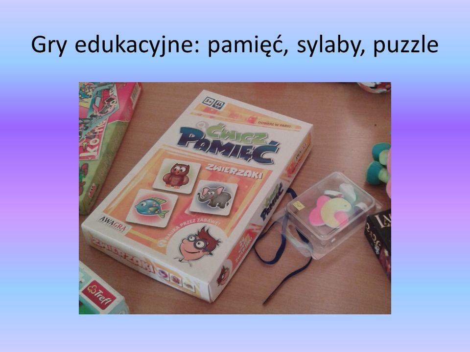 Gry edukacyjne: pamięć, sylaby, puzzle