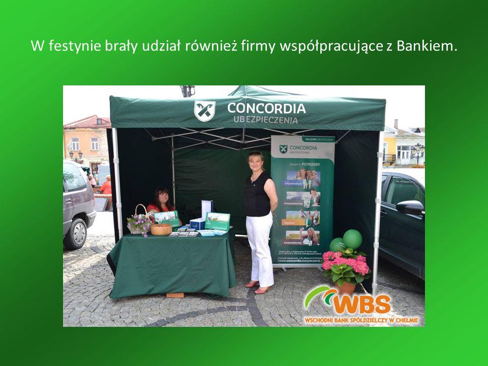 W festynie brały udział również firmy współpracujące z Bankiem.