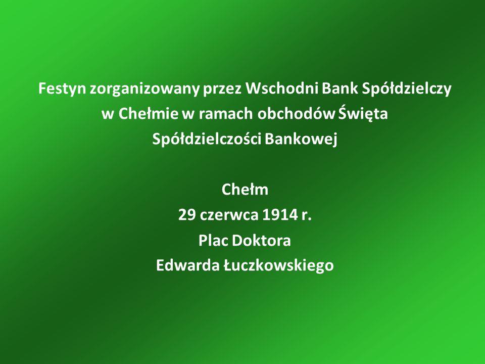 Festyn zorganizowany przez Wschodni Bank Spółdzielczy w Chełmie w ramach obchodów Święta Spółdzielczości Bankowej Chełm 29 czerwca 1914 r.