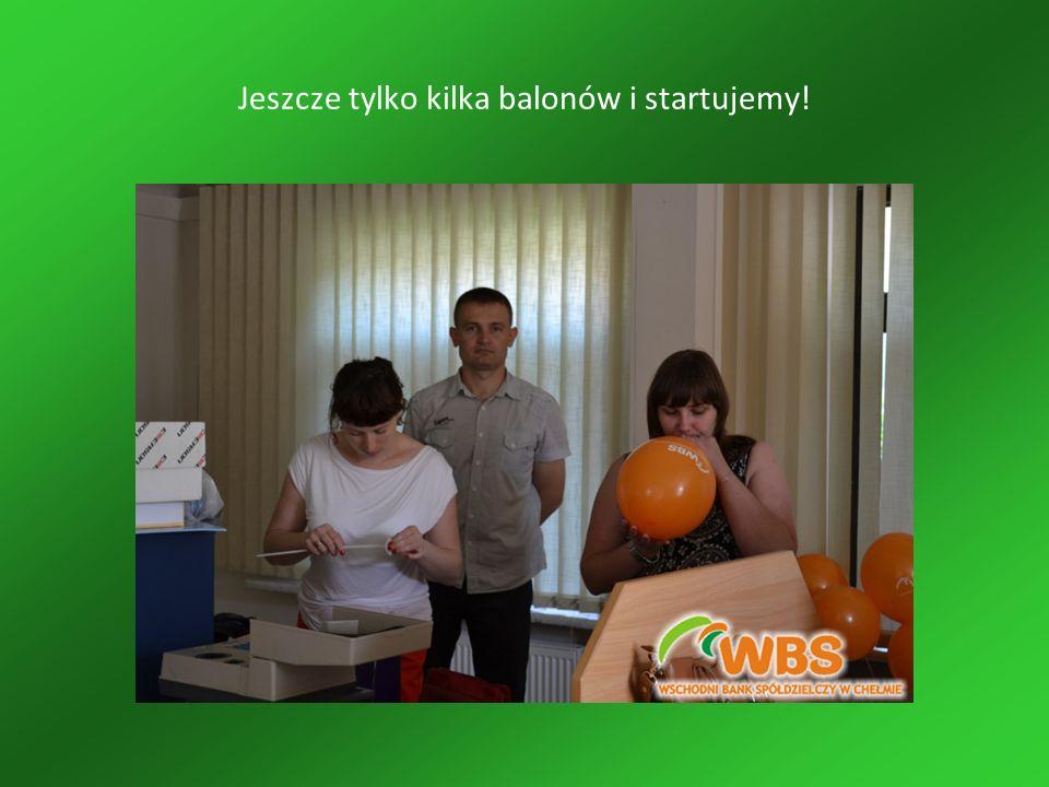 Jeszcze tylko kilka balonów i startujemy!