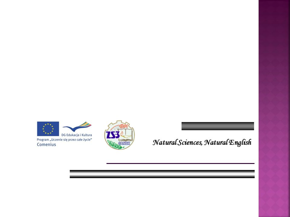 Natural Sciences, Natural English