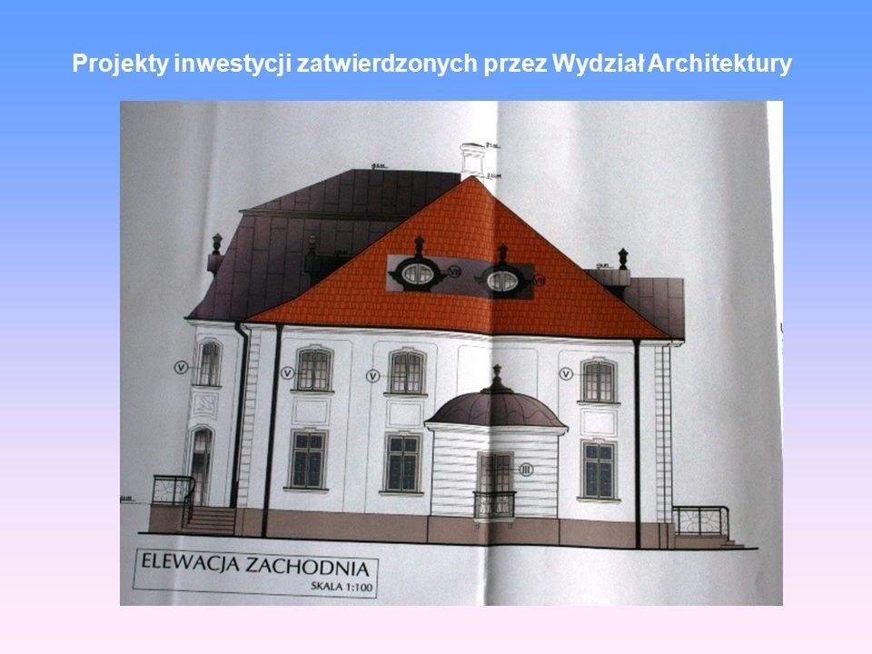 Projekty inwestycji zatwierdzonych przez Wydział Architektury