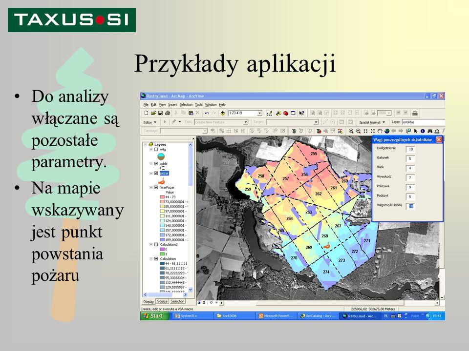 Przykłady aplikacji Do analizy włączane są pozostałe parametry.