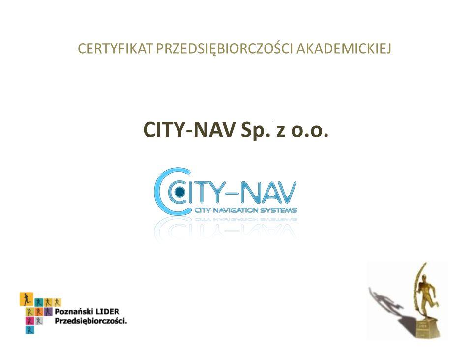CERTYFIKAT PRZEDSIĘBIORCZOŚCI AKADEMICKIEJ CITY-NAV Sp. z o.o.