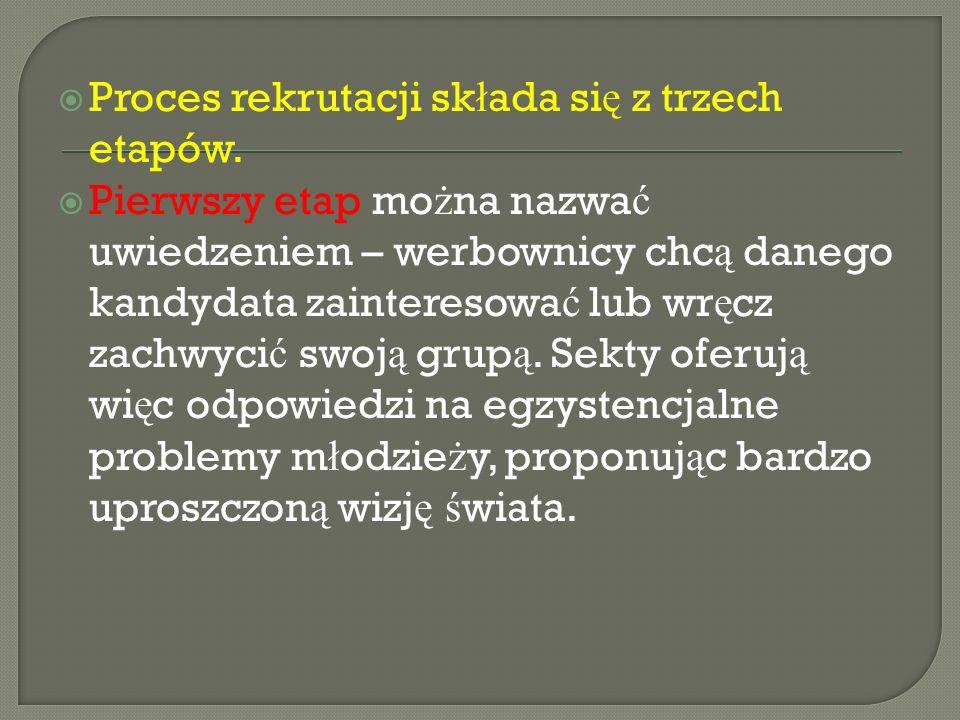  Proces rekrutacji sk ł ada si ę z trzech etapów.