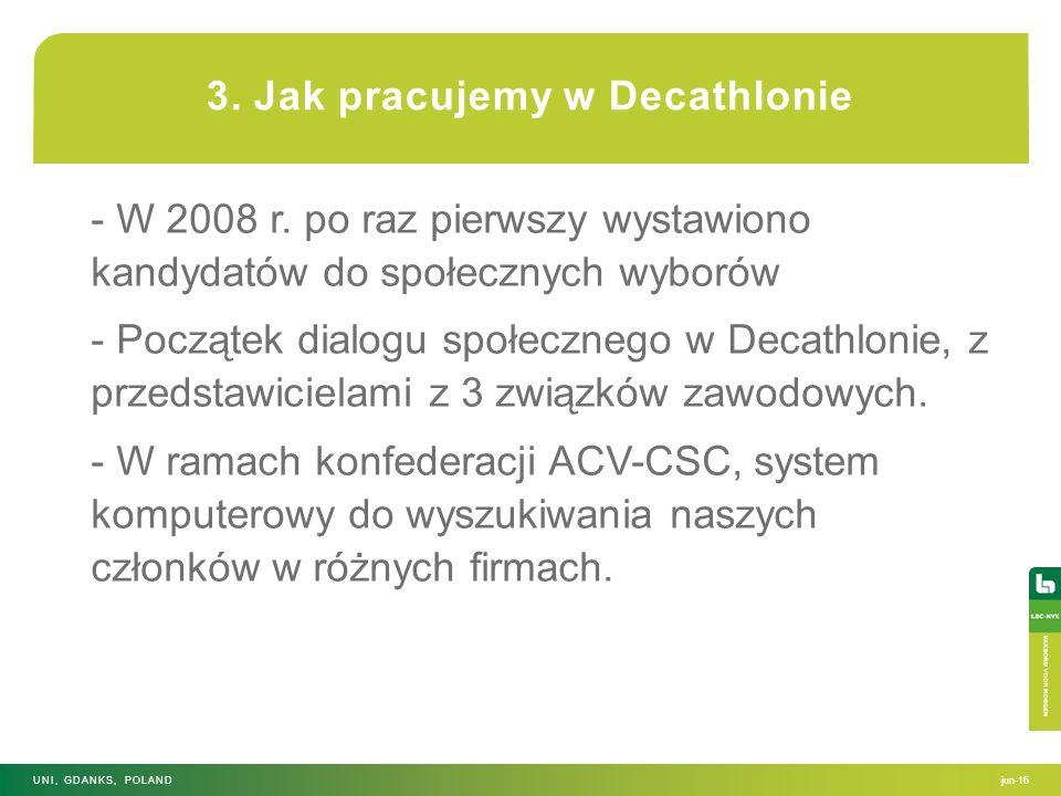 3. Jak pracujemy w Decathlonie - W 2008 r. po raz pierwszy wystawiono kandydatów do społecznych wyborów - Początek dialogu społecznego w Decathlonie,