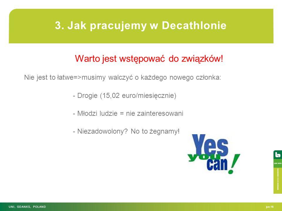 Warto jest wstępować do związków! Nie jest to łatwe=>musimy walczyć o każdego nowego członka: - Drogie (15,02 euro/miesięcznie) - Młodzi ludzie = nie