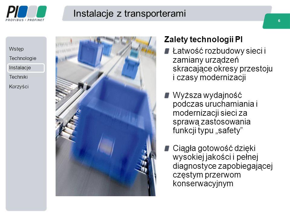 Wstęp Technologie Instalacje Techniki Korzyści 17 Informacje dodatkowe Informacje dodatkowe można znaleźć na stronach internetowych: www.profibus.com www.profinet.com www.profidrive.com Przygotowane przez PI Polska na podstawie materiałów PI International i Siemens AG