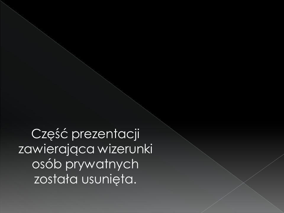 Część prezentacji zawierająca wizerunki osób prywatnych została usunięta.