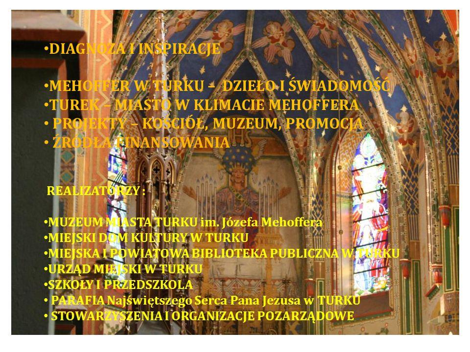 DIAGNOZA I INSPIRACJE MEHOFFER W TURKU – DZIEŁO I ŚWIADOMOŚĆ TUREK – MIASTO W KLIMACIE MEHOFFERA PROJEKTY – KOŚCIÓŁ, MUZEUM, PROMOCJA ŹRÓDŁA FINANSOWA