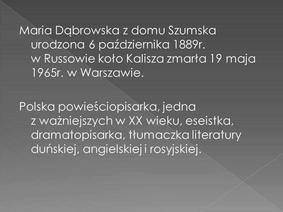 Maria Dąbrowska z domu Szumska urodzona 6 października 1889r.