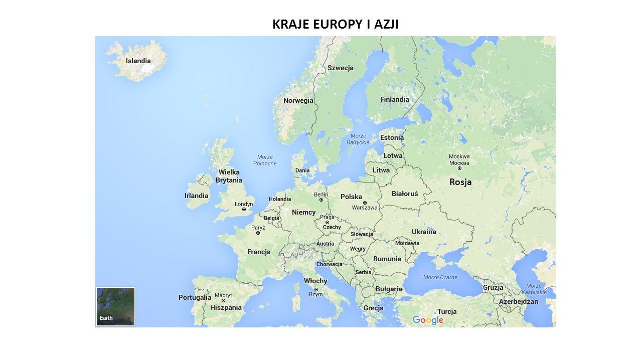 Rosja KRAJE EUROPY I AZJI