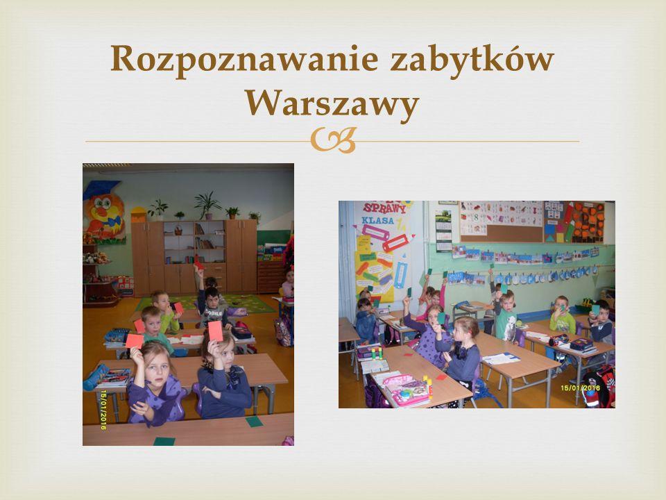  Rozpoznawanie zabytków Warszawy
