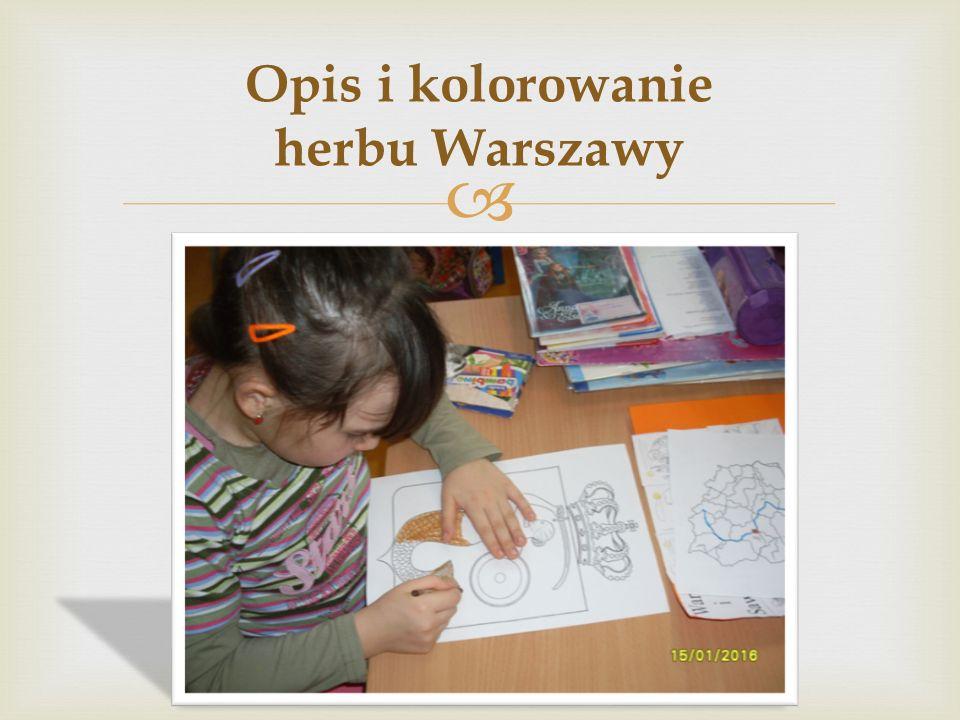  Opis i kolorowanie herbu Warszawy