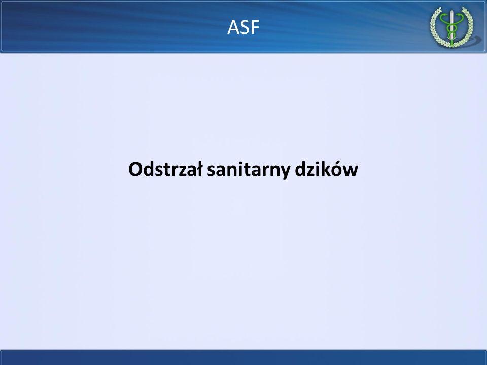 Odstrzał sanitarny dzików ASF