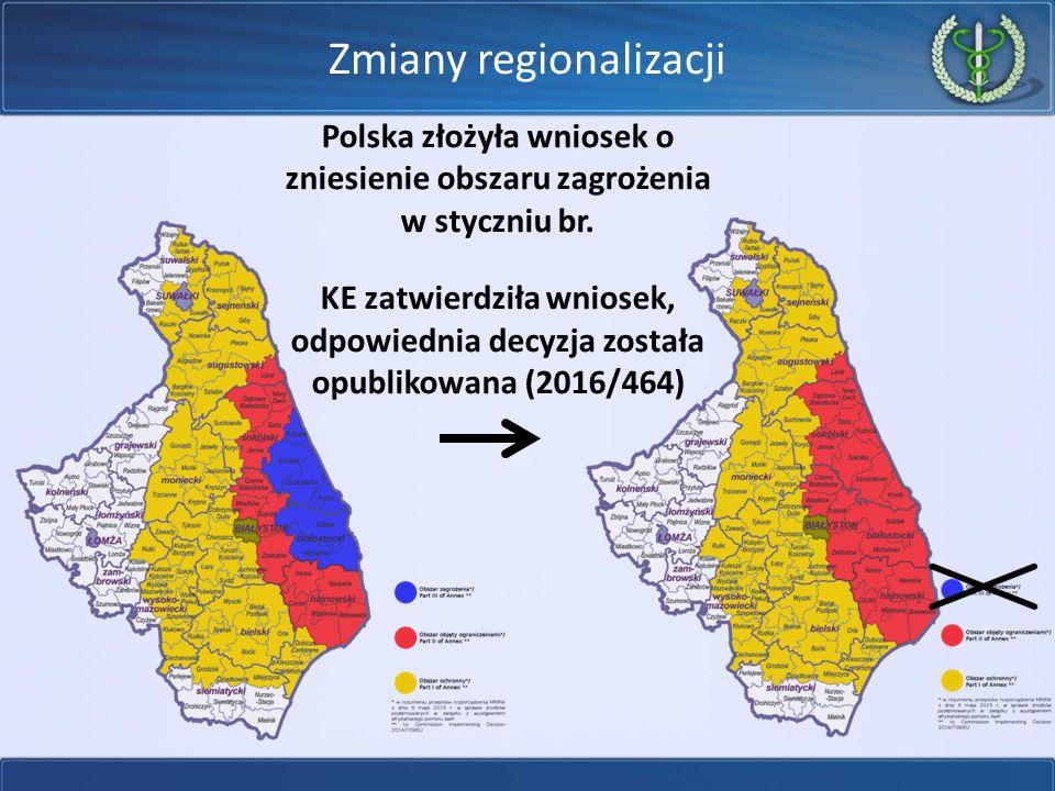 Regionalizacja  Część II – obszar, w którym ASF wystąpił u dzików  Część I – obszar ochronny, w którym ASF nie wystąpił