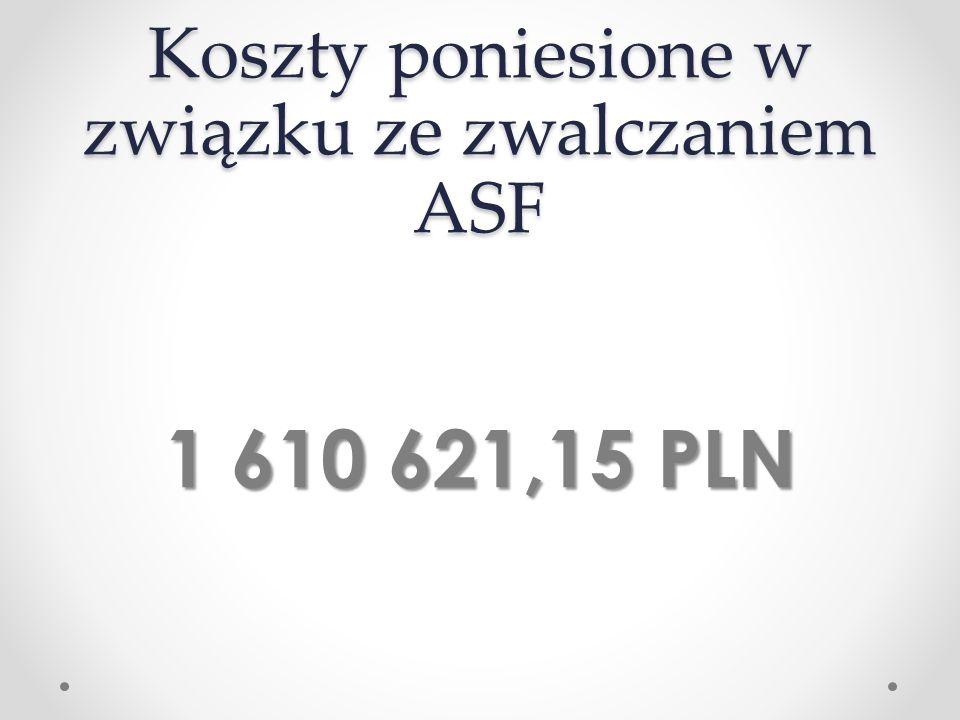 Koszty poniesione w związku ze zwalczaniem ASF 1 610 621,15 PLN