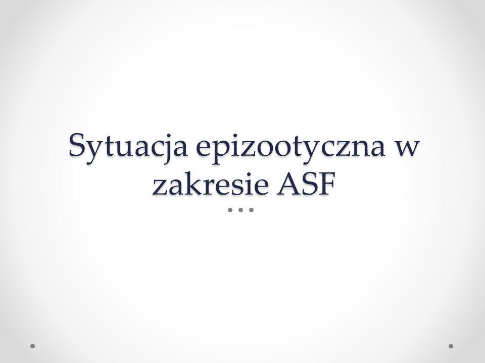 Sytuacja epizootyczna w zakresie ASF