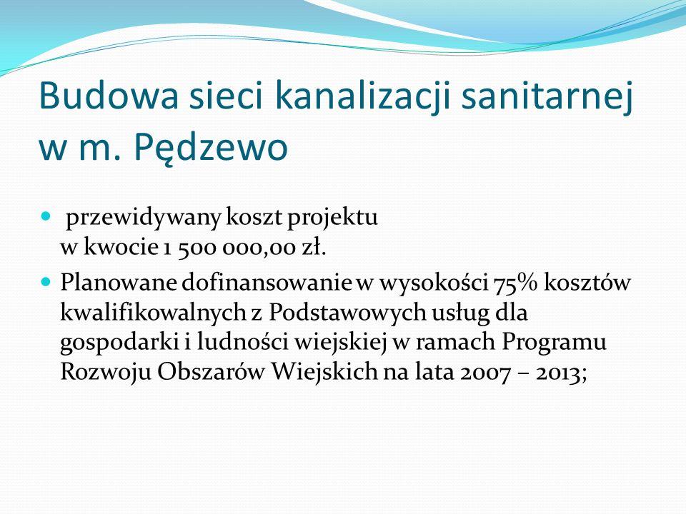 Budowa sieci kanalizacji sanitarnej w m.
