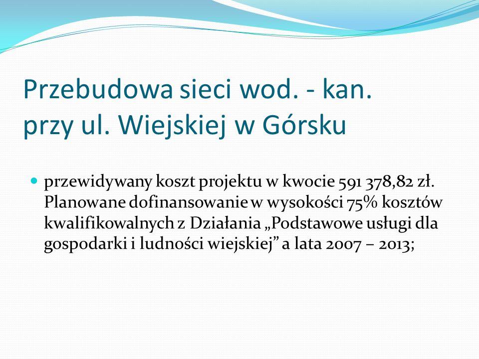 Przebudowa sieci wod. - kan. przy ul.