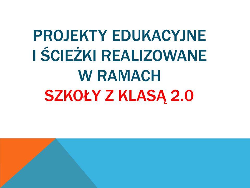 PROJEKTY EDUKACYJNE I ŚCIEŻKI REALIZOWANE W RAMACH SZKOŁY Z KLASĄ 2.0