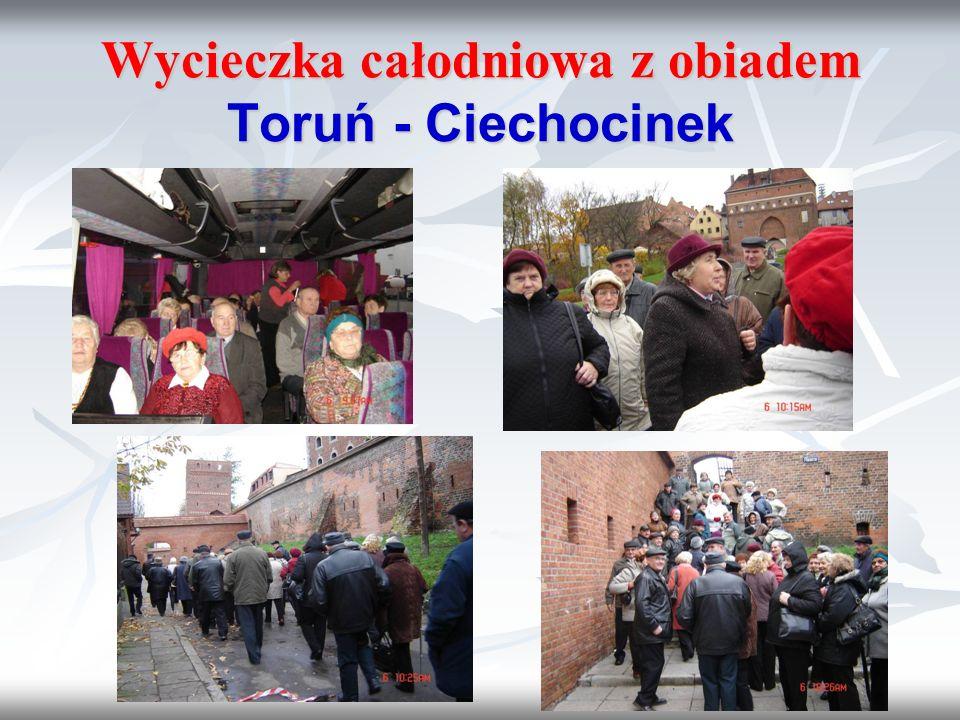 Wycieczka całodniowa z obiadem Toruń - Ciechocinek