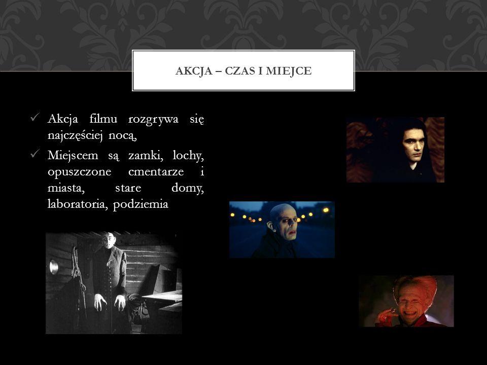 Akcja filmu rozgrywa się najczęściej nocą, Miejscem są zamki, lochy, opuszczone cmentarze i miasta, stare domy, laboratoria, podziemia AKCJA – CZAS I MIEJCE