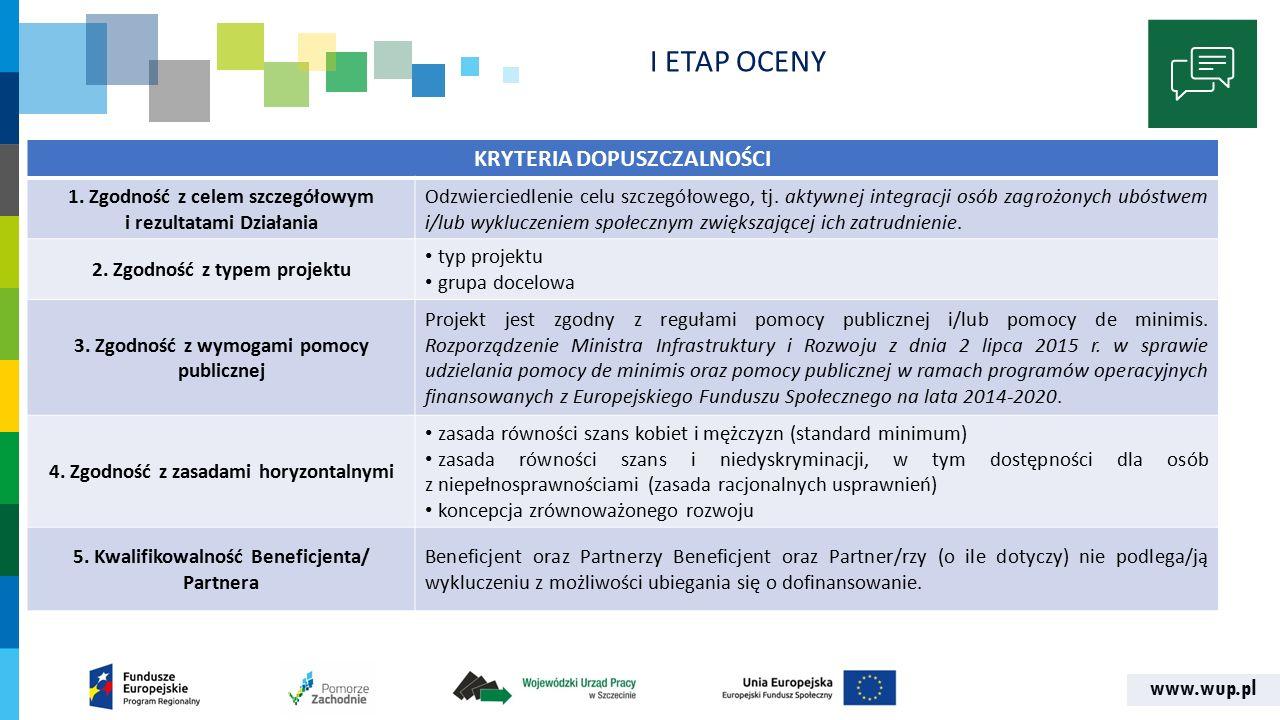 www.wup.pl I ETAP OCENY KRYTERIA DOPUSZCZALNOŚCI 6.