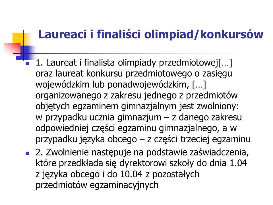 Laureaci i finaliści olimpiad/konkursów 1.