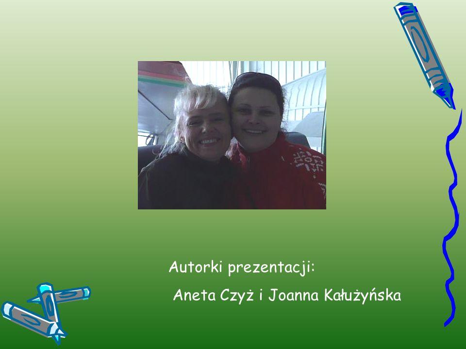 Autorki prezentacji: Aneta Czyż i Joanna Kałużyńska