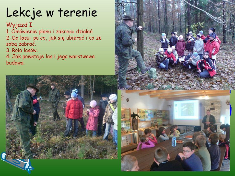 Lekcje w terenie Wyjazd II 1.Zwierzęta leśne i ich zachowania.