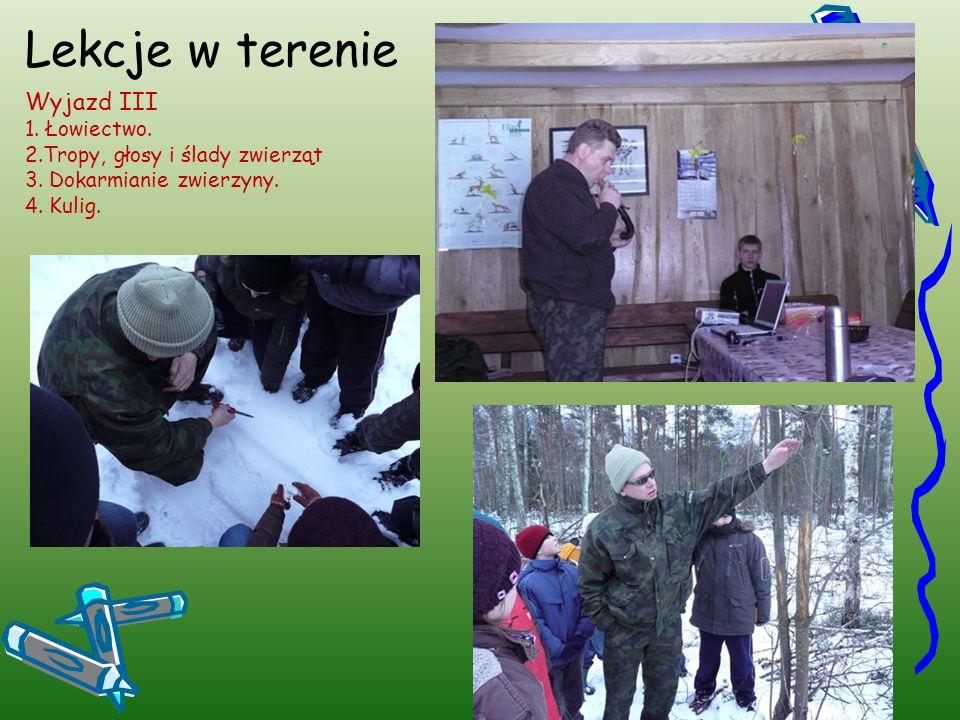 Lekcje w terenie Wyjazd IV 1.Cztery pory roku w lesie.