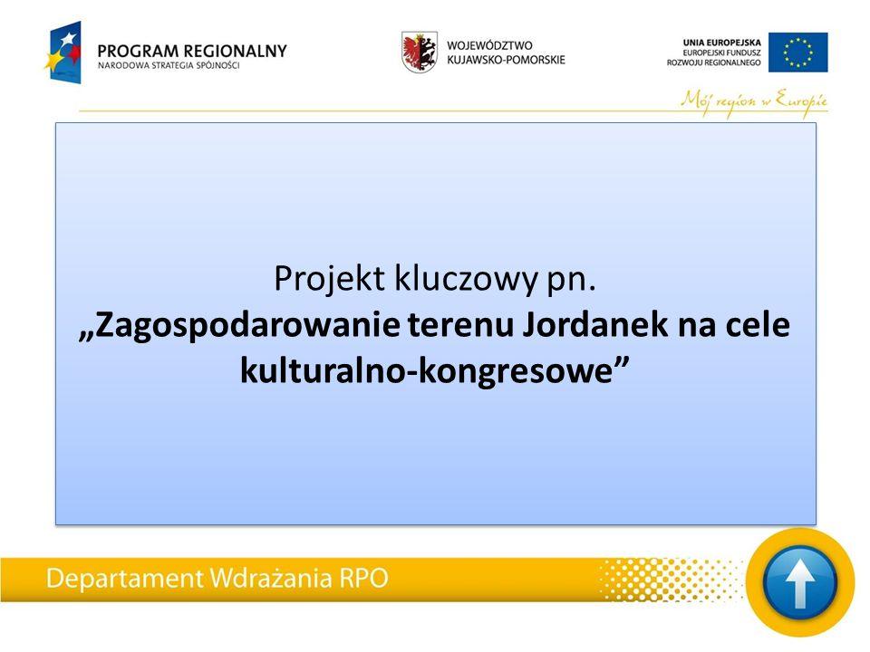 """Projekt kluczowy pn. """"Zagospodarowanie terenu Jordanek na cele kulturalno-kongresowe"""