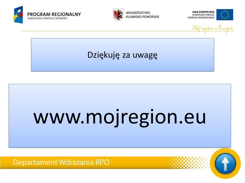 Dziękuję za uwagę www.mojregion.eu