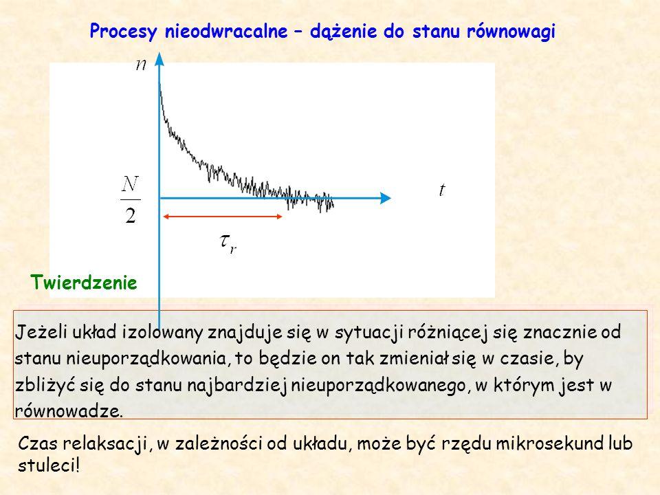 Jeżeli układ izolowany znajduje się w sytuacji różniącej się znacznie od stanu nieuporządkowania, to będzie on tak zmieniał się w czasie, by zbliżyć się do stanu najbardziej nieuporządkowanego, w którym jest w równowadze.