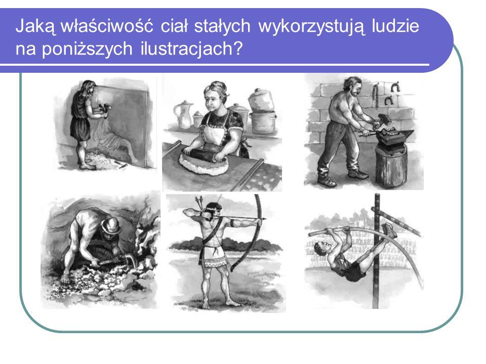 Jaką właściwość ciał stałych wykorzystują ludzie na poniższych ilustracjach?