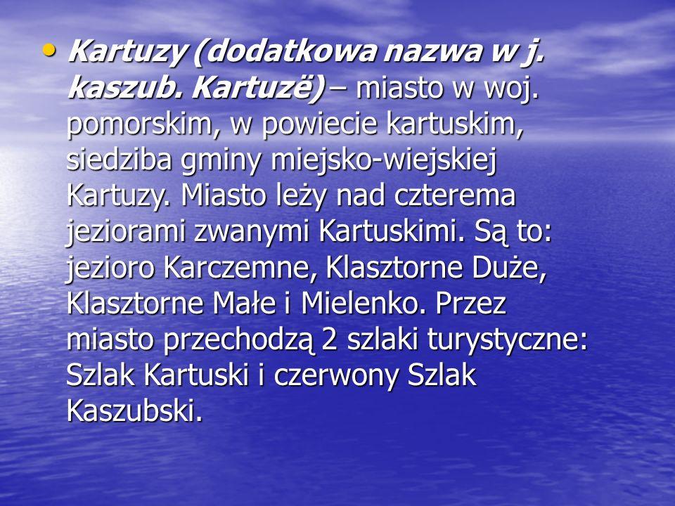 Kartuzy (dodatkowa nazwa w j. kaszub. Kartuzë) – miasto w woj.