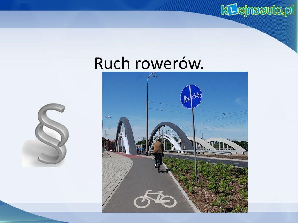 Ruch rowerów.