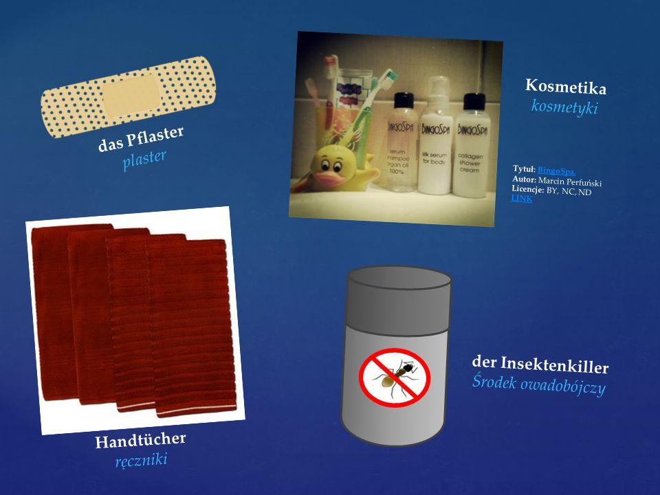 das Pflaster plaster Kosmetika kosmetyki Tytuł: BingoSpa.BingoSpa. Autor: Marcin Perfuński Licencje: BY, NC, ND LINK Handtücher ręczniki der Insektenk