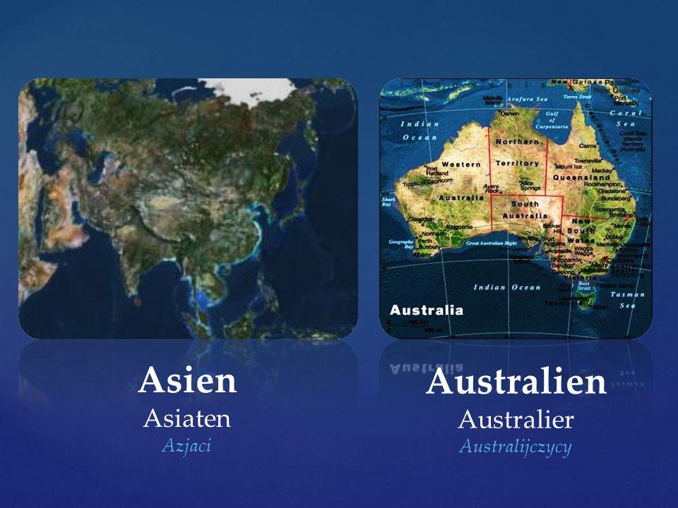 Asien Asiaten Azjaci Australien Australier Australijczycy