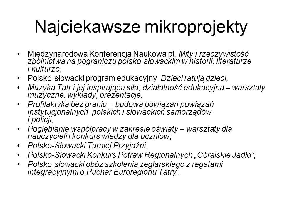 Najciekawsze mikroprojekty Międzynarodowa Konferencja Naukowa pt. Mity i rzeczywistość zbójnictwa na pograniczu polsko-słowackim w historii, literatur