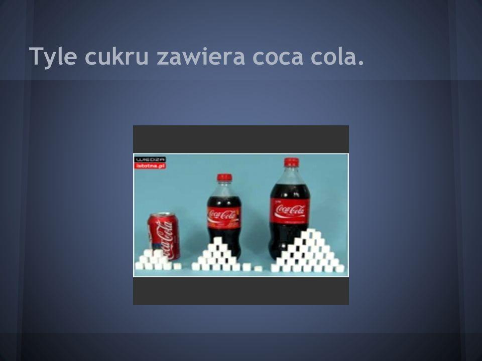 Tyle cukru zawiera coca cola.