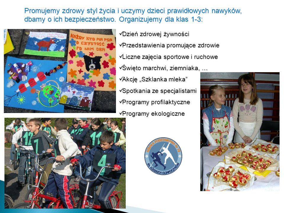 Promujemy zdrowy styl życia i uczymy dzieci prawidłowych nawyków, dbamy o ich bezpieczeństwo.