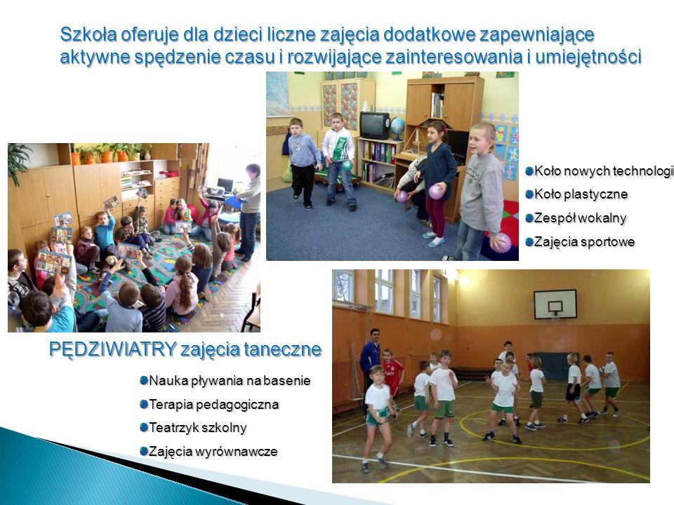 Szkoła oferuje dla dzieci liczne zajęcia dodatkowe zapewniające aktywne spędzenie czasu i rozwijające zainteresowania i umiejętności Nauka pływania na