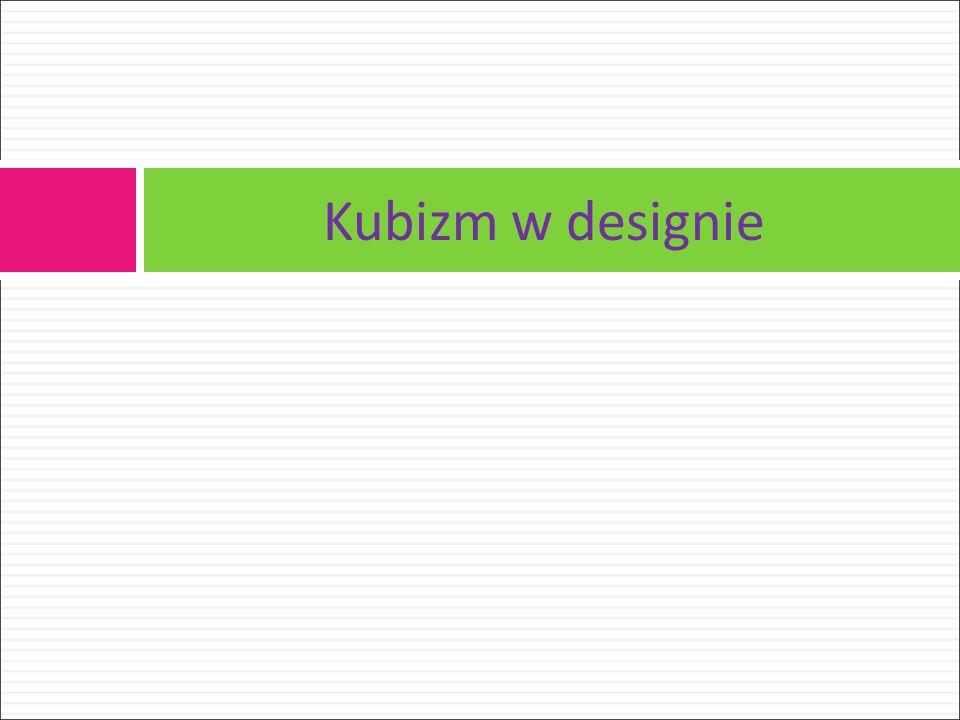 Kubizm w designie