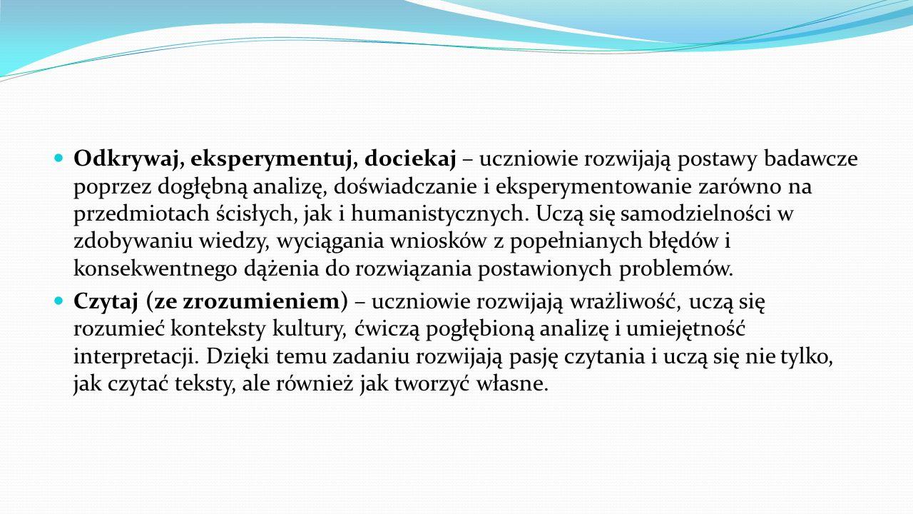 W roku szkolnym 2015/2016 wzięli udział nauczyciele:  Magda Banach  Wioletta Kołtunowska  Anna Konecka  Sylwia Łaskowska  Marta Lazur