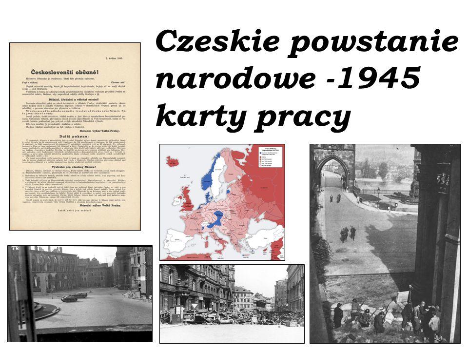 Czeskie powstanie narodowe -1945 karty pracy